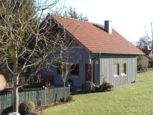 Ferienhaus mit Holzverschalung