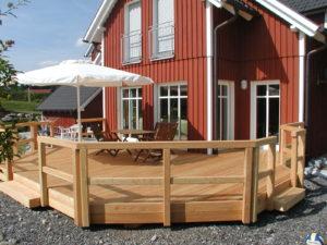 Terrassendeck in Holz
