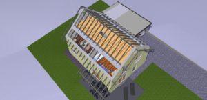 Einblick in die Dachkonstruktion